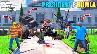 GTA 5 : TERRORIST ATTACK ON NEW PRESIDENT IN WHITE HOUSE    BB GAMING