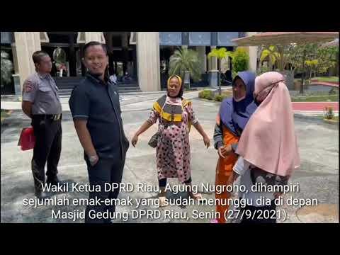 VIDEO: Dikenal Baik, Agung Nugroho Dicegat Warga Rumbai Saat ke Masjid DPRD Riau