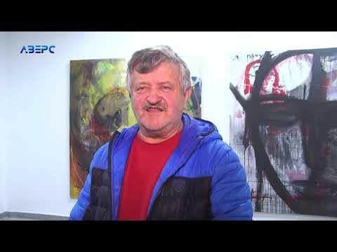 Художник зі Словенії – Едуард Бєльський відкрив виставку в Луцьку - YouTube