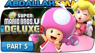 New Super Mario Bros U Deluxe - Soda Jungle 100% Walkthrough Part 5 (Nintendo Switch)