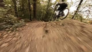 Quick lines | Downhill VS FPV part 2. | Cinewhoop chases biker | 2.7k | .totónoire cinematics