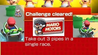 Take Out 3 Pipes In A Single Race Mario Kart Tour