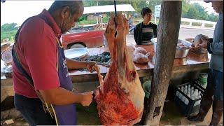 เนื้อวัวซอยจุ๊ ลาบขมๆ สดๆ ใหม่ๆ ที่เชียงคำ จ.พะเยา โลละ 340 บาท พะนะ!
