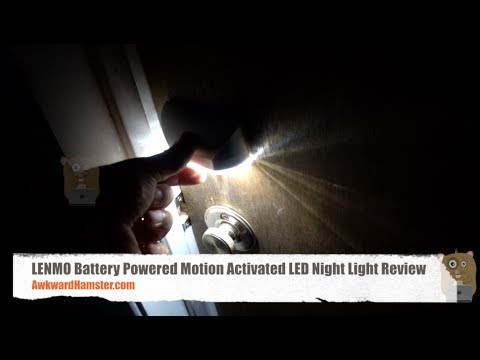 LENMO Battery Powered Motion Activated LED Night Light Review