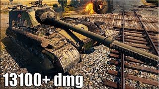Объект 268 Вариант 4 РЕКОРД ПО УРОНУ WORLD OF TANKS