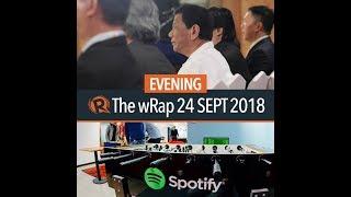 Duterte's medical tests, Spotify, Pia Wurtzbach | Evening wRap | Kholo.pk
