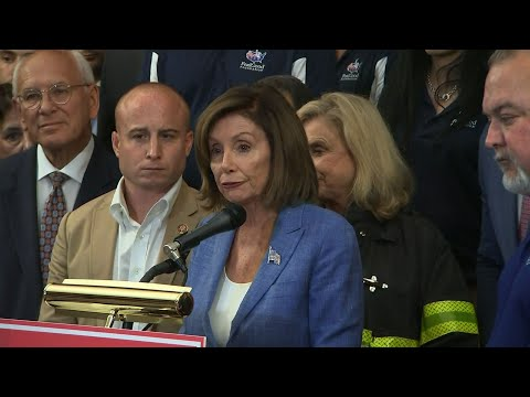 House Speaker Nancy Pelosi and fellow lawmakers met with retired first responders and advocates ahead of a House vote which overwhelmingly approved a bill to ensure that a victims compensation fund for Sept. 11 attacks never runs out of money. (July 12)