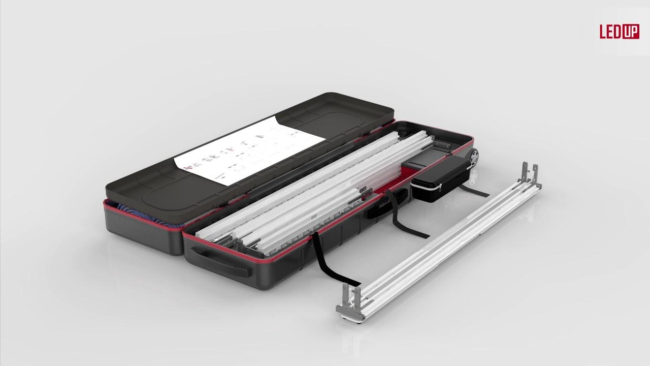 WEIDE Displays LEDUP im praktischen ABS Transportkoffer