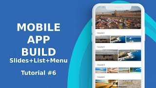 Ionic 3 slides list side menu tutorial 6