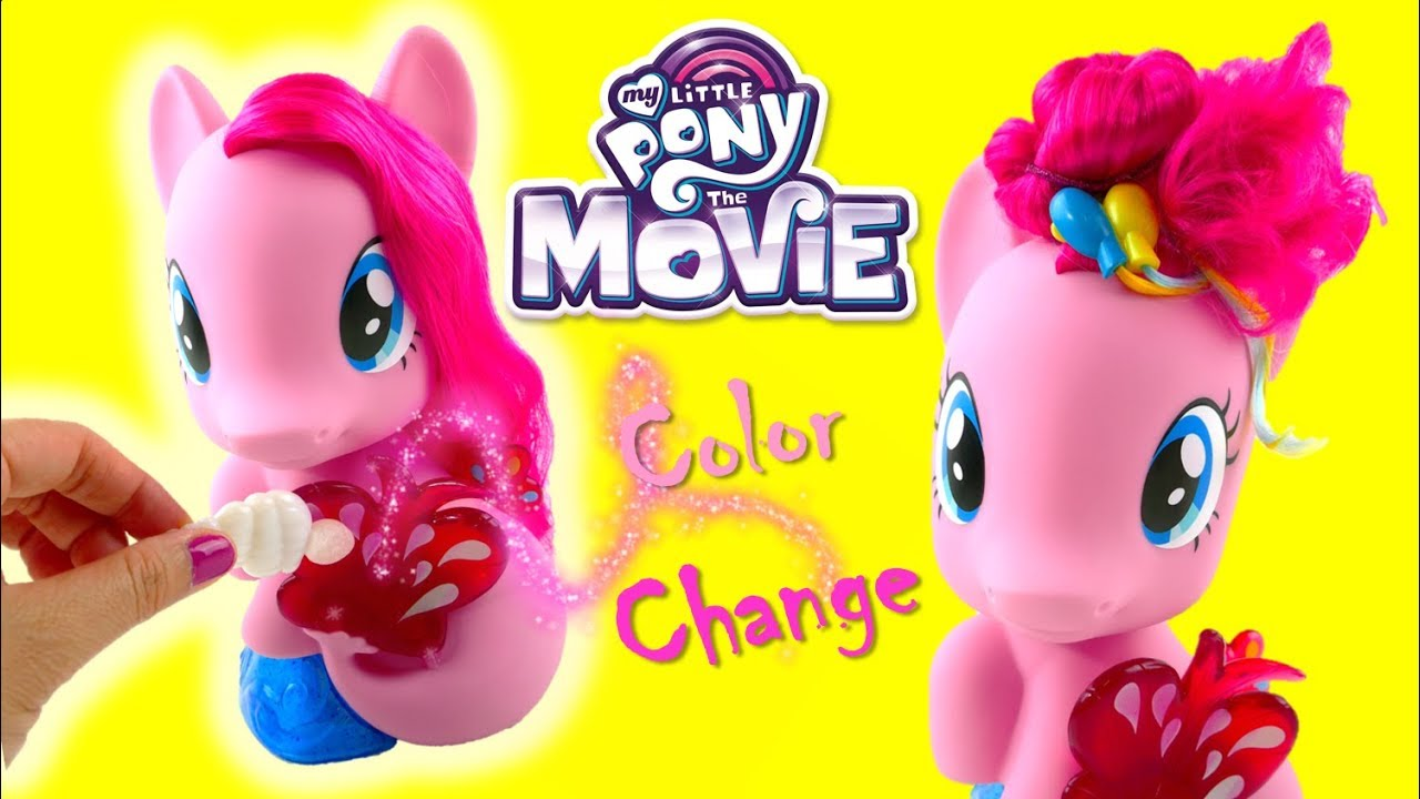 New My Little Pony Movie 2017 Toy PINKIE PIE Magic Style Seapony Styling Head - Color change tail