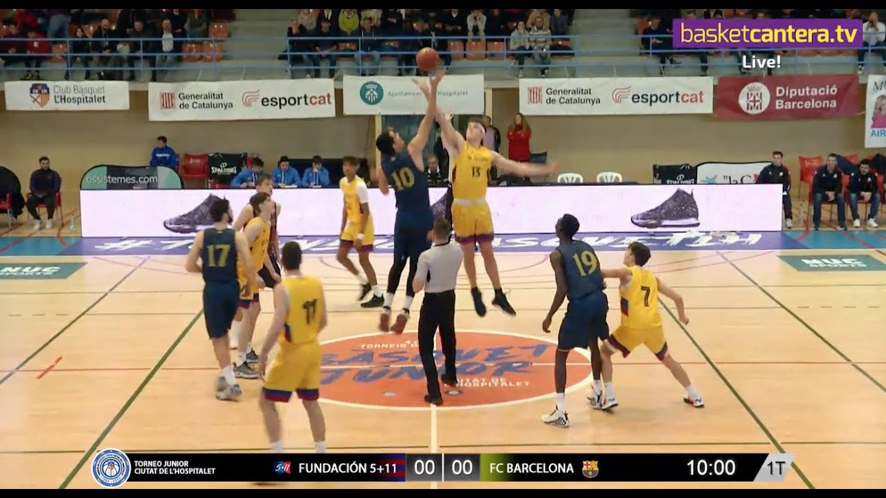 U18M - BASKONIA FUNDACIÓN 5 + 11 vs FC BARCELONA. Torneo Junior L´Hospitalet 2020 (BasketCantera.TV)