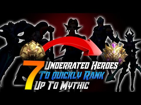 EASIEST HEROES TO REACH MYTHIC | Mobile Legends Bang Bang