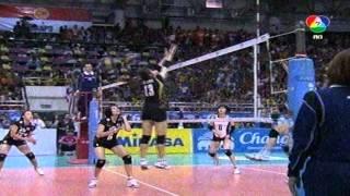 นักตบสาวไทยชนะญี่ปุ่น 3-0 ครองแชมป์เอเซียสมัยที่ 2