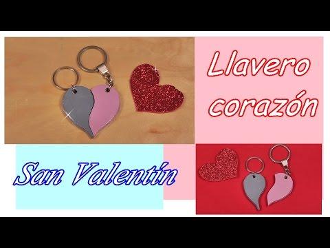 ❤ Llavero de corazón partido para San Valentín. Día de los enamorados 💕