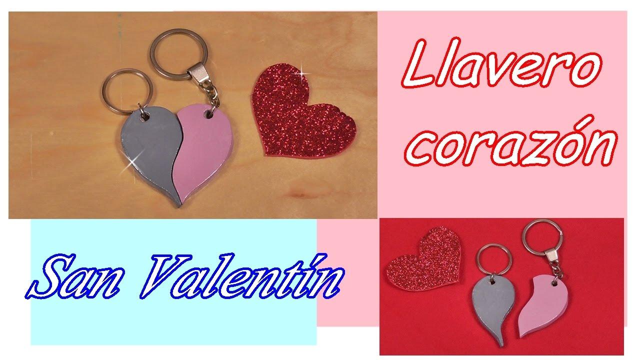 ❤ Llavero de corazón partido para San Valentín. Día de los enamorados