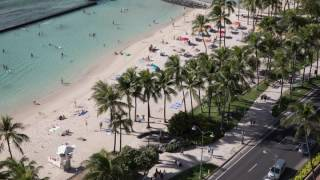 4k timelapse Waikiki beach activity