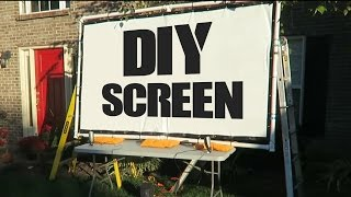 DIY Movie Screen For Projector - The Blind Life