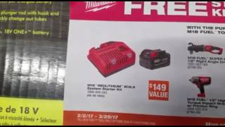 Milwaukee M18 Fuel Promo 2/2/17 - 3/29/17 , Home Depot