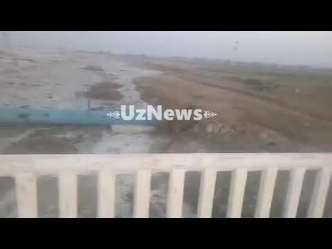 Авария дамбы на водохранилище в Сырдарье