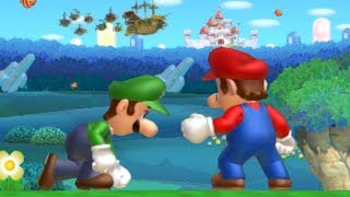 New Super Mario Bros U Co-Op Walkthrough - World 1 (All Star Coins)