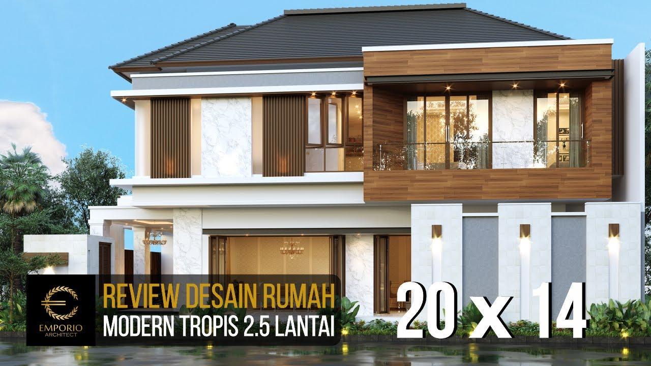 Video 3D Desain Rumah Modern 2.5 Lantai Ibu Yoke - Jakarta Timur