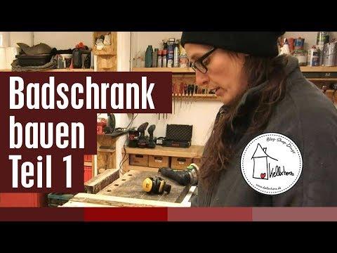 Badschrank bauen Teil 1 - DIY holzwerken in der Kellerherz Werkstatt