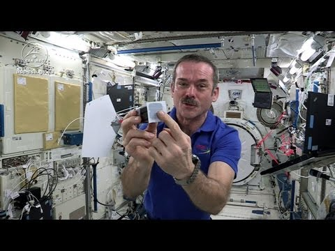 Watch Chris Hadfield MacGyver Up A Game Of Space Darts
