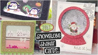 DIY SNOWGLOBE CARD // Shaker Cards For Christmas, Holidays & Winter - How To  SoCraftastic