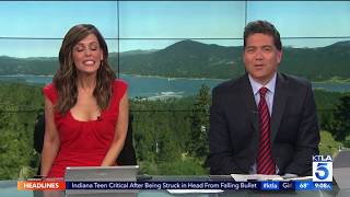 Reporter is VOMITED on *LIVE ON TV* - Video Youtube