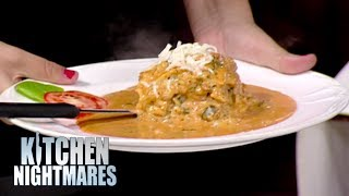 Gordon Ramsay Struggles To Eat Lasagna | Kitchen Nightmares