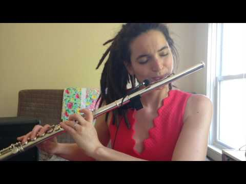 Improvisation for electric flute and glissando headjoint.