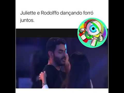 Juliette ensinando Rodolffo dançar forro BIG BROTHER BRASIL 2021