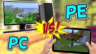 Minecraft PE V.S. Minecraft PC Comparison