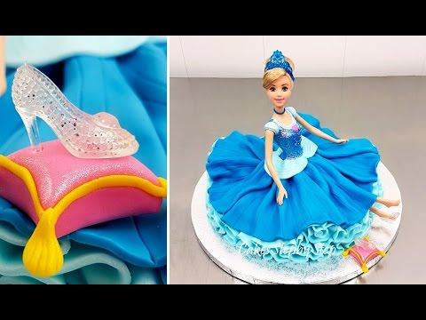 Video Disney Princess Cinderella Doll Cake How To Make by Cakes StepbyStep