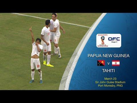 Папуа Новая Гвинея - Tahiti 1:3. Видеообзор матча 23.03.2017. Видео голов и опасных моментов игры