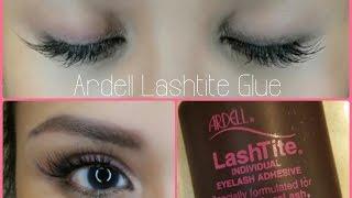 IN DEPTH Tutorial: Ardell Lashtite Glue | Apply Under My Natural Lashes!