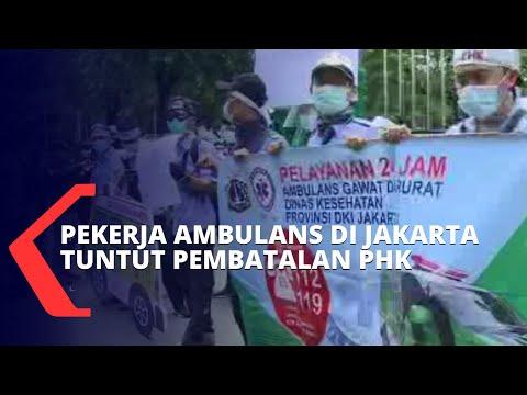 terancam phk ratusan pekerja ambulans di jakarta gelar aksi protes