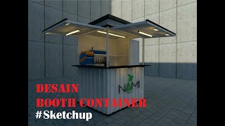 Design Booth Container #sketchup
