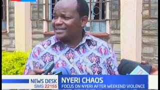 Nyeri chaos rocked event attended by DP Ruto, Deputy Speaker Kariuki sought by police