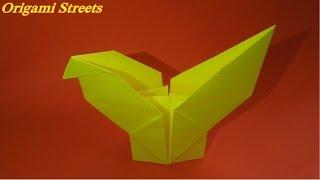 Оригами петух. Как сделать петуха из бумаги.
