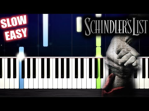 Schindler's List Theme - SLOW EASY Piano Tutorial by PlutaX