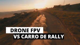 DRONE DJI FPV VS CARRO DE RALLY - CINEDRONE