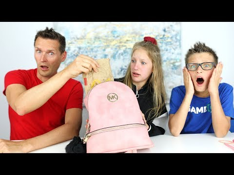 My Dad Reacts To What Is Inside My Bag!