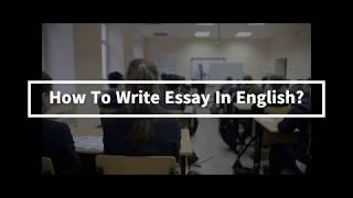 How To Write An Essay In English - ESL: How To Write A 5 Paragraph Essay