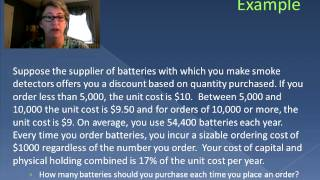 Quantity Discount and Inventory (Video 25)