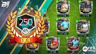 FULL TOP 250 REWARDS SQUAD BUILDER! w/ NUMBER 1 KANTE! THE RAREST CARD! | FIFA MOBILE