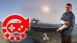 360° Video - Police Speed Boat Test Drive by Franklin, GTAV VR