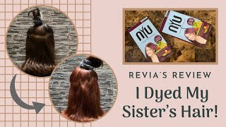 I Dyed My Sister's Hair With Nyu Burgundy Hair Color || Indonesia
