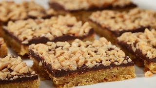 Toffee Bars Recipe Demonstration - Joyofbaking.com