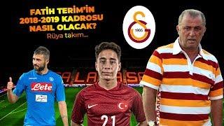 FATİH TERİM'İN 2018-2019 GALATASARAY KADROSU - MUHTEMEL 11